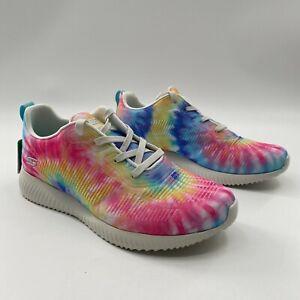 Skechers Bobs Women's Squad Pastel Tie Dye Sneakers Athletic Shoe 117064 Size 11