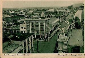Ecuador Guayaquil 10th August Street Gargoyles Postage Prepaid Post Card Unused