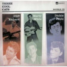 THREE COOL CATS 2CD Cliff Richard, Marty Wilde, Dickie Pride 1950s Rock 'n' Roll