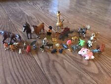 Lot Of 30+ Figurines Mixed Wild & Domestic Animals And More! (z)
