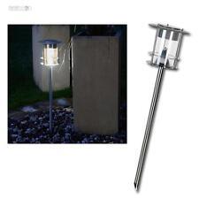 LED Solar-Wegleuchte Edelstahl HOCHWERTIG, warmweiß EXTRA-HELL, Garten-Leuchte