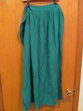 Women's Plus Size 1x Green Crepon Maxi Skirt W/tags