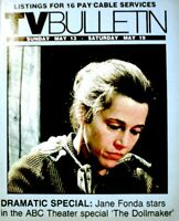 TV Guide 1984 Jane Fonda The Dollmaker Regional TV Bulletin OC Vintage VG COA
