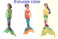 Miniature Doll Barbie Dress  Handmade cute mermaid OOAK Cloth Accessories