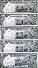 LOT Philippines, 5 x 500 Pesos (ND) 1944, WWII, Pick 114 (114b), JIM, UNC