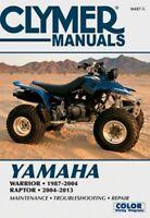 1987-2013 Yamaha YFM 350 YFM350 Warrior Raptor ATV Quad CLYMER REPAIR MANUAL