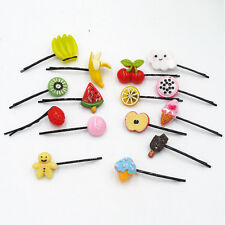 10pcs Cute Girl Baby Fruit Hair Clips Pineapple Cherry Hairpins Hair Accessories
