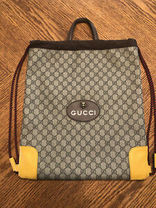 Gucci Drawstring Backpack Authentic