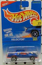 STOCK CAR RACE VELOCITOR FORD T BIRD THUNDERBIRD BLUE 471 1995 96 HW HOT WHEELS