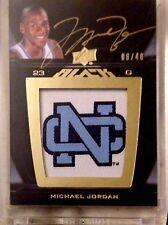 2011-12 UD Black Logo Patch Michael Jordan Patch On-Card Autograph /40 UNC