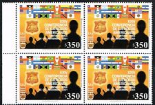 CHILE 2001 STAMP # 2066 MNH BLOCK OF FOUR FLAGS CONFERENCE OF AMERICAN ARMIES