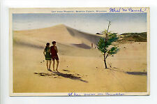 Berrien County MI Mich 1928, Out from Paradise, What No Beach?, couple, sand