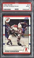 Patrik Sundstrom 1990 Score Hockey # 19 PSA 9 Mint