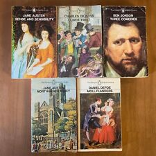 5 PENGUIN ENGLISH LIBRARY PAPERBACKS - ORANGE SPINE 1970'S - AUSTEN DICKENS ETC
