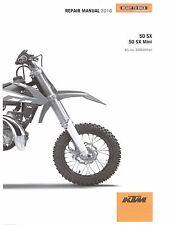 KTM Service Workshop Shop Repair Manual Book 2016 50 SX