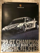 1999 Porsche 911 GT3-R Coupe Showroom Advertising Sales Poster RARE!! Awesome
