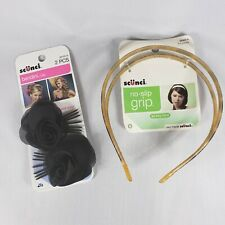 2pc Goody Scunci Hair Accessories Hairband and Hairbows lot New