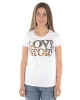 T shirt Maglietta Liu Jo Sweatshirt MADE IN ITALY Donna Bianco F18297J9122 11111