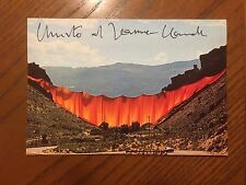 Christo Signed Valley Curtain Postcard with COA