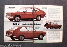 BG03 - Clipping-Ritaglio -1975- AUTONOTIZIE ,BERLINETTA FIAT 128 3P