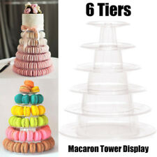 6 Tier Round Macaron Tower Stand Cake Display Rack for Wedding Birthday Decor AU
