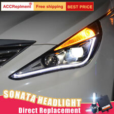 2Pcs For Hyundai Sonata Headlights assembly Bi-xenon Lens Projector LED DRL11-14