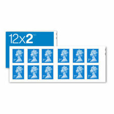 UK Postage Stamps Royal Mail 2nd Class Stamps - Book of 12 x 2 (24 stamps)
