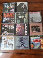 Classic Rock CD Lot Of 11 Bob Dylan Billy Idol Bon Jovi KISS ZZ Top Rolling (I6)