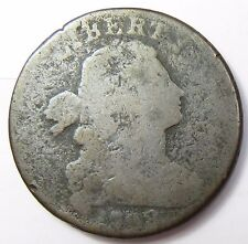 1798 S-186 Die Crack REV Large Cent Draped Bust Head Penny 1c US Coin Item#12873