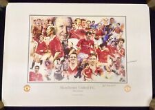 Manchester United FC The Greats Poster Signed by Bryan Robson and Pat Crerand