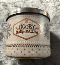 BRAND NEW Bath & Body Works 'Gooey Marshmallow' 3 Wick Christmas Scented Candle