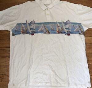 Nautica Sailboat Sailing Polo Shirt Men's Size XXL 2XL