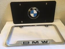 BMW Vanity plate with license plate holder