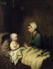 Bremen Oil Painting repro Little Girl Saying Her Prayers in Bed