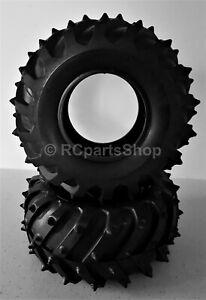 Tamiya Bush Devil/Monster Beetle/Mud Blaster Monster Pin Spike Tyres x2 50374