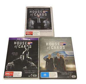 House Of Cards Season 1-3 Region 4