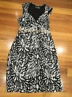 JACQUI E Myer COCKTAIL DRESS Size 10 RRP $150 Good Condition Lined