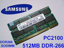 512MB PC2100 DDR266 CL2.5 SO-DIMM 200pin LAPTOP PORTATILE MEMORIA SODIMM RAM