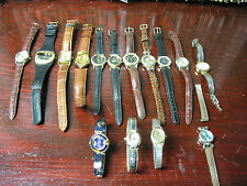 VINTAGE  WRISTWATCHES  ( 15 TOTAL)  MOSTLY JAPAN MOVEMENT PARTS   OR REPAIR