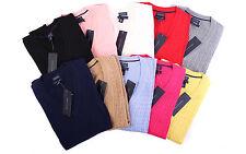 Tommy Hilfiger Damen Zopf Pullover Strickpullover V-Neck 10 Farben Size XS-XXL