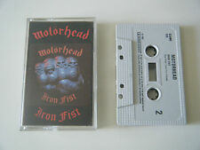 MOTORHEAD IRON FIST CASSETTE TAPE CASTLE UK 1987