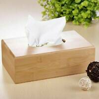 Natural Bamboo Tissue Box Cover Napkin Paper Case Holder For Hotel Home Decor