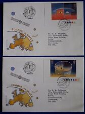 1991 Pair of Europe in space, traffic lights. Stuart First day covers.