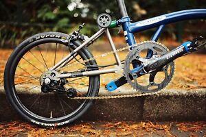 J&L Titanium Rear Triangle/Frame fit Brompton bike(Save 350g)