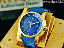 Invicta Men S1 Yakuza Dragon AUTOMATIC NH35A 18K Gold Plated SS Blue Dial Watch