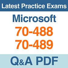 Microsoft Practice Tests MCSD Certification 70-488 & 70-489 Exams Q&A PDF