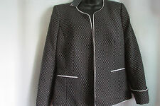 """NWT,$185. /BLACK & WHITE TRIM CAREER JACKET/10/""""CAREER COLLECTIONS"""" #30059 46405"""