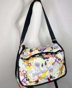 LeSportSac Large Messenger Weekender Bag California Rare Design EUC