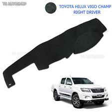 Right Driver Blk Dash Mat Dashmat Carpet Cover Toyota Hilux Vigo Champ 2005-2014
