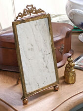Old French Louis XVI Mirror and Frame with Bow - Painted Reverse